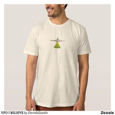 UFO I BELIEVE Tee  Available on more products! Type in the name of this design in the search bar on my Zazzle products page to see them all!  #ufo #alien #space #outer #universe #ship #flying #saucer #little #green #men #conspiracy #theory #cartoon #illustration #funny #drawing #digital #scifi #science #fiction #buy #zazzle #sale #for #sale #men #women #fashion #style #clothes #apparel #tee #tank #hoody #sweatshirt #lifestyle