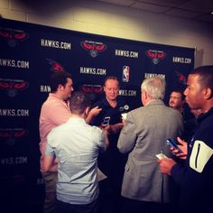 Coach Bud addresses the media before opening night. #ATLHawks