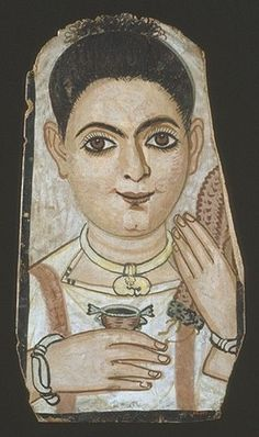 Fayum Mummy Portrait 100CE - 300CE Fayum / Romano-Egyptian / Roman / EncausticMore Pins Like This At FOSTERGINGER @ Pinterest