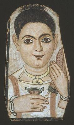 Fayum Mummy Portrait 100CE - 300CE Fayum / Romano-Egyptian / Roman / EncausticMore Pins Like This At FOSTERGINGER @ Pinterest
