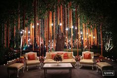 Move Over Mandaps, Trees Are Taking Over Your Wedding Decor! Indian Wedding Receptions, Desi Wedding Decor, Wedding Stage Decorations, Wedding Mandap, Altar Decorations, Home Wedding, Dream Wedding, Wedding Ideas, Wedding Backdrops
