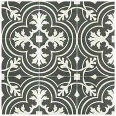 Merola Tile, Twenties Classic 7-3/4 in. x 7-3/4 in. Ceramic Floor and Wall Tile, FRC8TWCL at The Home Depot - Mobile