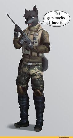 фэндомы,furry,фурри,furry art,furry canine,furry милитаризм,furry with weapon,Diadorin