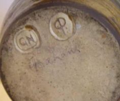 Godshill Pottery, IoW? - GN mark, cp mark dots and signed Graham - mystery marks