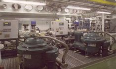 The engine room of the ship. - Image - Ship Technology