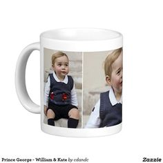 Prince George - William & Kate Basic White Mug   -  Visit my Zazzle Store for more Great Gift Ideas - http://www.zazzle.com/cdandc - #royalfamily #british #gifts #will #kate #mug #souvenir