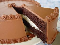 Triple Chocolate Fudge Cake