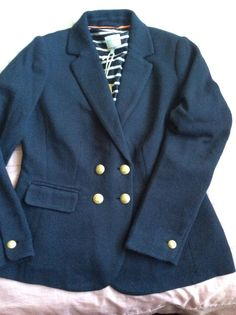 New Lovely Navy Blue Mallory Jacket By JOULES, Size 12. £99.95!
