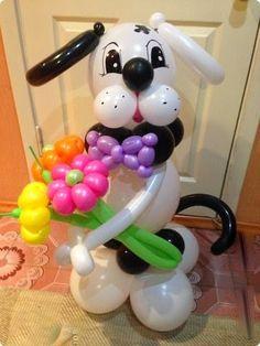 Resultado de imagen para perro con globos Proyectos que intentar