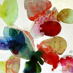 Meredith Pardue, Kapalua Hibiscus IV  2013, Ink, oil, and charcoal on canvas