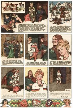 02/13/1937 - Prince Valiant, originated by Hal Foster, appeared for the first time - An epic adventure that has told a continuous story during its entire history, and the full stretch of that story now totals more than 3900 Sunday strips. Currently, the strip appears weekly in more than 300 American newspapers.