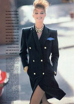 Yves Saint Laurent in Vogue US January 1983 (photography: Arthur Elgort) via www.fashionedbylove.co.uk