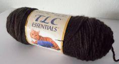 Single 6 oz skein of Dark Brown Acrylic Red Heart TLC yarn. Cheap Yarn, Dark Brown, Essentials, Medium, Heart, Red, Hearts, Medium Long Hairstyles
