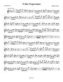 Partitura Color Esperaza, de Diego Torres - Saxofón alto   Color Esperanza, Diego Torres. Saxophone Sheet Music Free Violin Sheet Music, Piano Music Easy, Clarinet Sheet Music, Piano Songs, Piano Score, Music Score, Trombone, Bassoon, Electric Piano