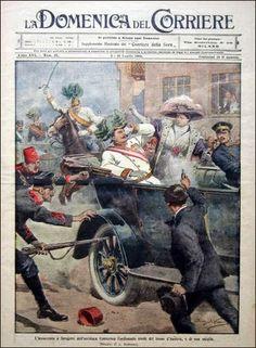 1914 L'assassinio dell'Arciduca Ferdinando per mano di uno studente serbo di nome Gavrilio Princip.