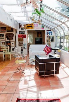 room in a greenhouse!