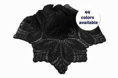 Triangle Black Knitted Wrap Shawl For Women - Lace Mohair Black Formal Shawl - Black Evening Winter Shawl - Lace Black Shawl For Dresses