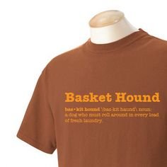 Basket Hound Garment Dyed Cotton Tshirt by WryToastDesigns on Etsy, $24.99