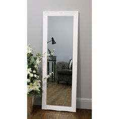 Floor mirrors – William Wood Mirrors Shabby Chic Mirror, Shabby Chic Style, Long Mirror, Beautiful Mirrors, Antique Frames, Beveled Mirror, Room Decor, Floor Mirrors, Interior