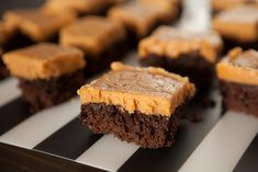 Chocolate Spinach Brownies with Peanut Butter Frosting