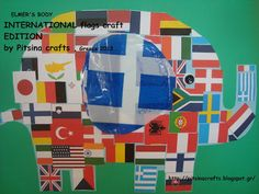 Pitsina Περήφανη Νηπιαγωγός (Greek kindergarten teacher) : ELMERS BODY /FLAG EDITION FOR KINDERGARTEN. ΕΛΜΕΡ Kai, International Flags, Kindergarten, Activities, Pictures, Crafts, October, School, Photos