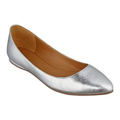 Nine West - Speak up - Pointed Toe Dress Flats - Silver - bonton.com - Original Price 69 Dollars - Sale Price 29