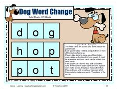 Short Vowel CVC Board Games by Games 4 Learning is a collection of 18 printable board games to practice reading, identifying and creating CVC Words with Short Vowels. These phonics games review basic letter patterns for the short vowels. $