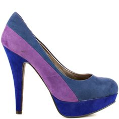 Volume heels Blue Multi Fabric brand heels G design by Guess