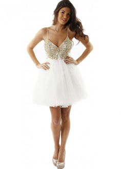 White or ivory prom dresses – for angel-like cuties
