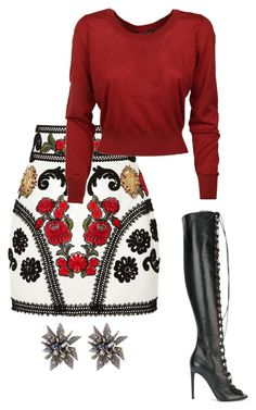 Untitled #1 by styledbymcbryt on Polyvore featuring polyvore, fashion, style, Dolce&Gabbana, Giambattista Valli, Alexis Bittar and clothing