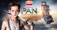 Find out which PAN character you are and enter for a chance to win a Warner Bros. Studio VIP Tour in sunny Hollywood, CA!  Coming soon to a theater near you