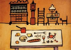 Kitchen and Cat by Colin Ruffell