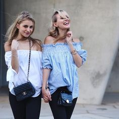 A moment of pure  h a p p i n e s s  with my @carodaur - Wearing our new @levis_germany #lot700 jeans! Left: #710 'super skinny' | Right: #711 'skinny'! #liveinlevis #ladiesinlevis  by ohhcouture