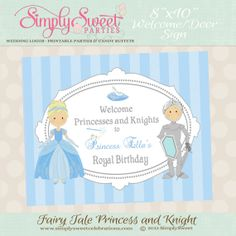 Knight and Princess Birthday Party  by SimplySweetParties on Etsy, $5.00