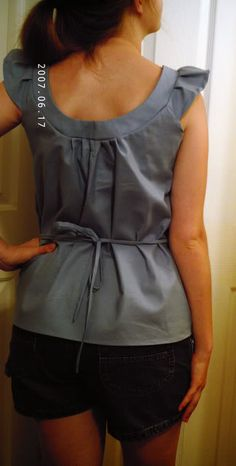 cute blue smock top - TUTORIAL ADDED! - CLOTHING