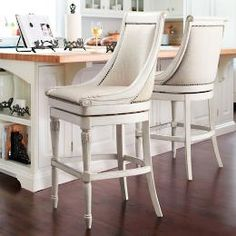 Kent Swivel Counter Stools.  I can't wait to see these in person!! I hope they will be the perfect contrast to my off black island and complement the Lennon granite.