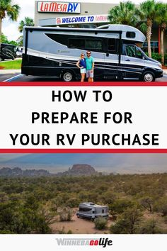Are you in the market for a new rv? Are you a weekend warrior, or plan to full time rv? In our how-to guide we help make your purchase of a new recreational vehicle easier. Whether you are looking for a motorhome, a fifth-wheel or towable this guide will walk you through the process. From what documentation you will need to what questions to ask a salesman we cover it all. Buying a new rv can be incredibly stressful so we hope our tips will make the process less so. Get ready to hit the road! List Of Questions, What If Questions, Buying An Rv, Road Trip Adventure, Rv Tips, Rv For Sale, Rv Parks, Rv Living