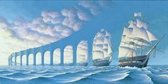 Optical Illusion Paintings by Rob Gonsalves   Cuded