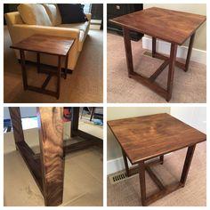Figured walnut side sofa table Unique Furniture, Sofa, Living Room, Table, Design, Home Decor, Settee, Decoration Home, Room Decor