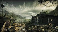 Rafael Falconi is an artist located in Rio de Janeiro, Brazil. His artwork is composited of Creative Retouching, Concept Art and Digital Matte Painting. Fantasy Village, Viking Village, Matte Painting, Vikings, Fantasy Art, Concept Art, Digital Art, Scene, Landscape
