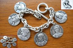 Ancien Bijou Bracelet Argenté Médaille François IER Louis XII Anne DE Bretagne | eBay