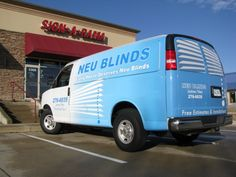 Great two color wrap design. The white blinds work well. Simple and effective.