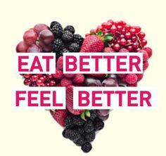Eat better feel better, so true!