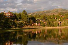 Así es Villa Pehuenia, en la provincia de Neuquén. Patagonia Argentina