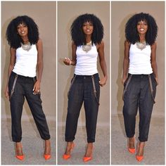Dressed down these suspender pants. Link in bio for outfit details...