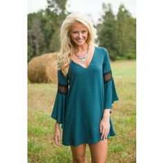 Window Of Opportunity Dress-Forest - $46.00