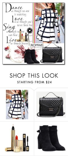 """""""ROMWE 8"""" by woman-1979 ❤ liked on Polyvore featuring WALL and Yves Saint Laurent"""