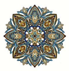 Mandala by Cynthia Emerlye, Coloring by Harold Suttles Mandala Art, Mandala Rocks, Mandala Drawing, Mandala Pattern, Mandala Design, Watercolor Mandala, Zentangle, Tangle Doodle, Zen Doodle