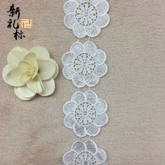 New circle large flower clothing accessories soluble lace lace lace embroidery lace polyester bar code-in Lace from Home & Garden on Aliexpress.com | Alibaba Group