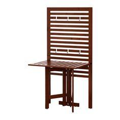 ÄPPLARÖ Panel pared+mesa pleg ext IKEA Para ganar espacio, pliega la mesa cuando no la utilices.